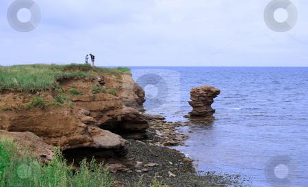 Rock Formation at North Cape, Prince Edward Island stock photo, Rock Formation at North Cape, Prince Edward Island, Canada by Thomas Marchessault