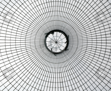 Glasshouse roof stock photo, Kibble Palace glasshouse roof in Glasgow by Laurent Dambies