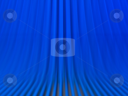 Blue escalator background stock photo, Blue escalator background motion blur by Laurent Dambies
