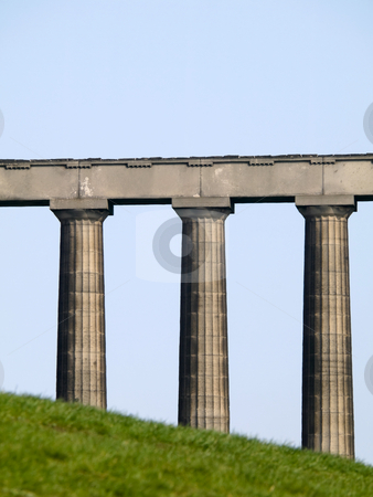 National monument in Edinburgh stock photo, Infinished national monument on Calton hill in Edinburgh Scotland by Laurent Dambies