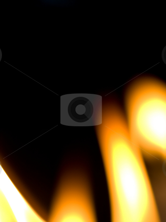 Flame background stock photo, Background made of candles flames on black by Laurent Dambies