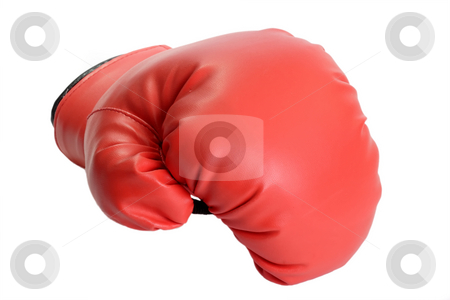 Box glove stock photo, One red boxing glove isolated on white background by Birgit Reitz-Hofmann