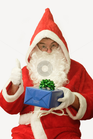 Smooth Santa stock photo, Male caucasian model of santa claus - isolated on white background by Birgit Reitz-Hofmann