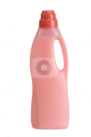 Fabric softener_4 stock photo, Bottles of laundry detergent and fabric softener on a white background by Birgit Reitz-Hofmann