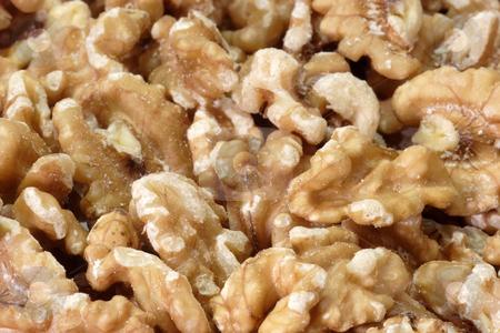 Walnuts stock photo, Fresh Walnuts in detail as background by Birgit Reitz-Hofmann