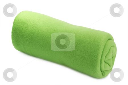 Green blanket stock photo, Soft and warm blanket on bright background by Birgit Reitz-Hofmann