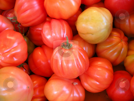 Fresh red tomatoes stock photo, Fresh red tomatoes as background by Birgit Reitz-Hofmann