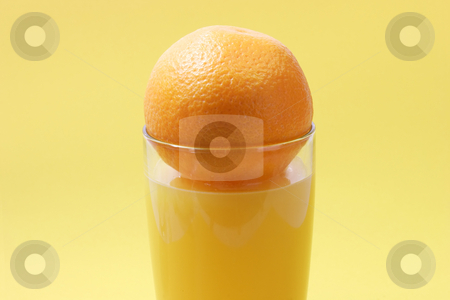 Orange juice_4 stock photo, Orange juice on bright background by Birgit Reitz-Hofmann