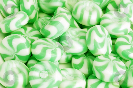 Candy stock photo, Green peppermint candy as background by Birgit Reitz-Hofmann