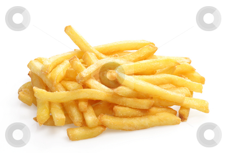 French_Fries stock photo, Crunchy French Fries on white background by Birgit Reitz-Hofmann