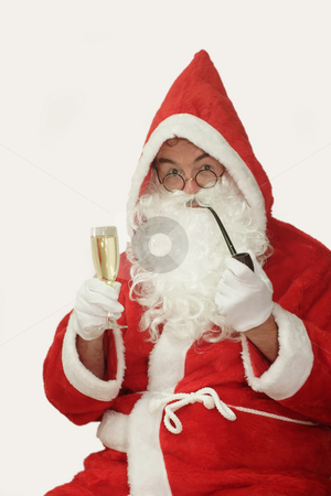 Christmas Celebration stock photo, Male caucasian model of santa claus - isolated on white background by Birgit Reitz-Hofmann