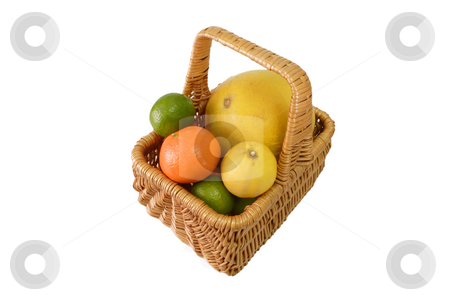 Fresh vitamins stock photo, Colorful fresh and  healthy fruits on bright background by Birgit Reitz-Hofmann