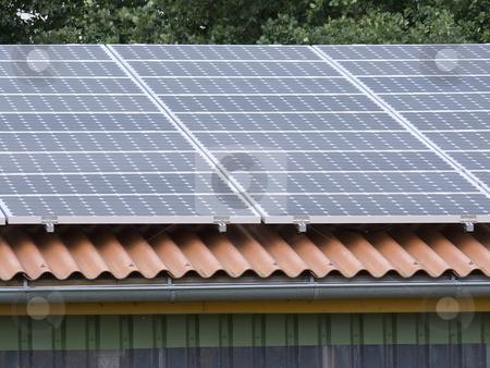Solar Panel stock photo, Solar panels on a roof by Birgit Reitz-Hofmann