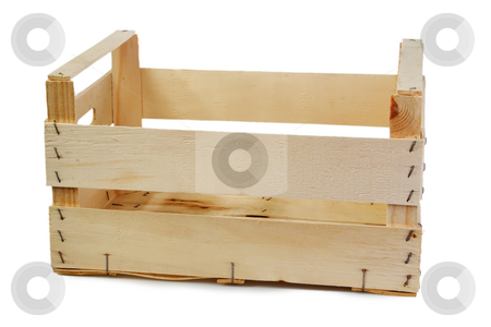 Package stock photo, Emty crate isolated on white background by Birgit Reitz-Hofmann