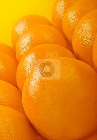 Oranges stock photo, Studio shot of oranges over yellow background by iodrakon