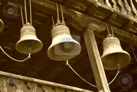 Bells stock photo, Preobrajenski Monastery near Veliko Turnovo Bulgaria (built in 14th century - collapsed through the ottoman - rebuilt in 19th century) by Desislava Dimitrova