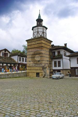 Tryavna clock tower stock photo, Tryavna and clock tower  by Desislava Dimitrova