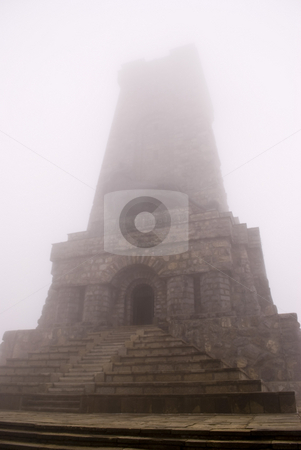Shipka monument stock photo, Shipka in heavy clouds  by Desislava Dimitrova