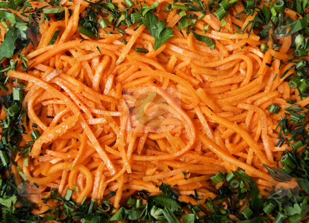 Salad made of carrot, korean kitchen stock photo, This is salad made of carrot, korean kitchen. by Larisa Chernysheva