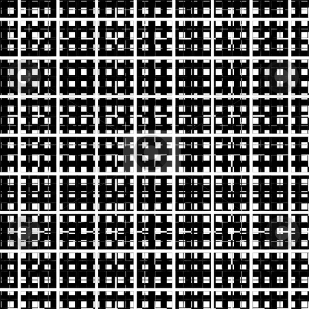 3d grid pattern stock photo, Seamless texture of black and white gaze on eachother by Wino Evertz