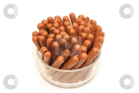 Chocolate Finger Biscuits stock photo, Chocolate covered biscuits known as chocolate fingers - a firm favourite with kids and grown-ups alike. by Helen Shorey