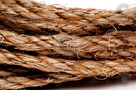 A horizontal macro of a coil of rope stock photo, A horizontal macro of a coil of rope by Vince Clements