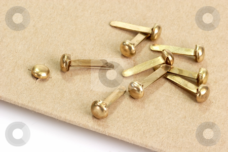 Envelope stock photo, Envelope with metal clasp on bright background by Birgit Reitz-Hofmann