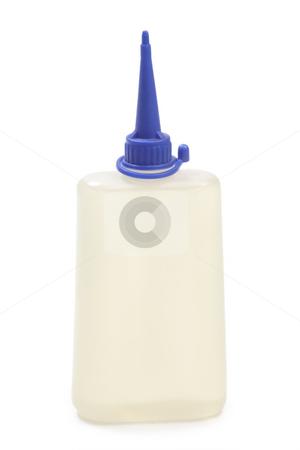 Oil bottle stock photo, White oil bottle with isolated on white background by Birgit Reitz-Hofmann