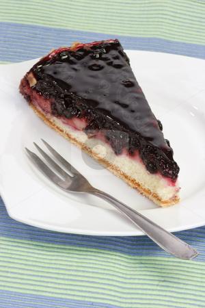 Huckleberry pie_1 stock photo, Slice of huckleberry pie on bright background by Birgit Reitz-Hofmann