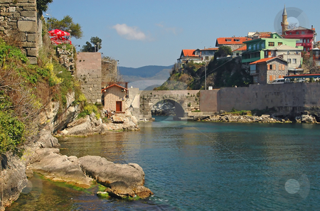 Amasra stock photo, The Turkish city of Amasra in the black sea by Kobby Dagan