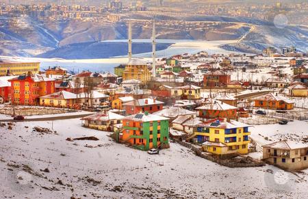 Ankara stock photo, The city of ankara in turkey coverd with snow by Kobby Dagan