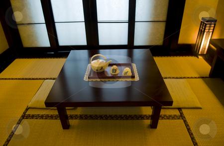 Japanese room stock photo, Interior of Japanese tea room by Kobby Dagan
