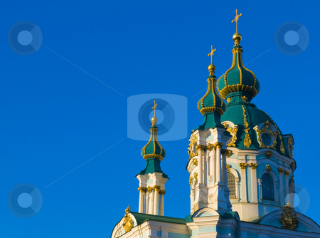 St. Andrew's Cathedral stock photo, St. Andrew's Cathedral in Kiev tha capital of Ukraine by Kobby Dagan