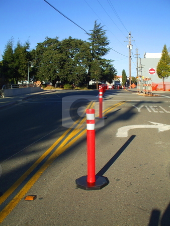 Road Cones stock photo,  by Michael Felix