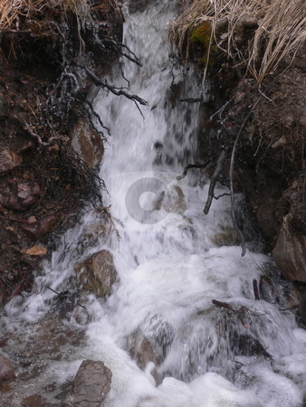 Mini Waterfall stock photo, Mini Waterfall created by mountain run off. by JJ Havens