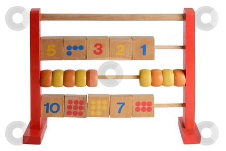 Abacus stock photo, Wooden abacus isdolated on white background by Birgit Reitz-Hofmann
