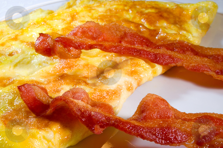 Bacon Eggs stock photo, Bacon with eggs ready to eat or serve by Ira J Lyles Jr