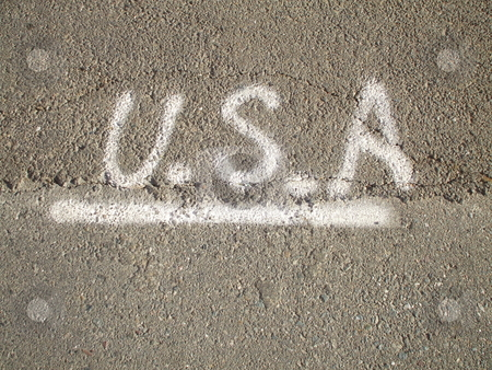 USA Sign stock photo,  by Michael Felix
