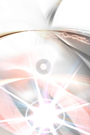 Abstract Burst Backdrop stock photo, An abstract layout with a bright lens flare and lots of copyspace. by Todd Arena