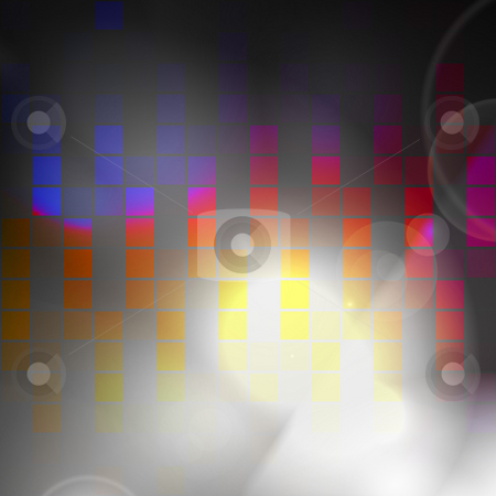 Digital Graphic Equalizer stock photo, An abstract audio waveform background that easily adds style to any design. by Todd Arena