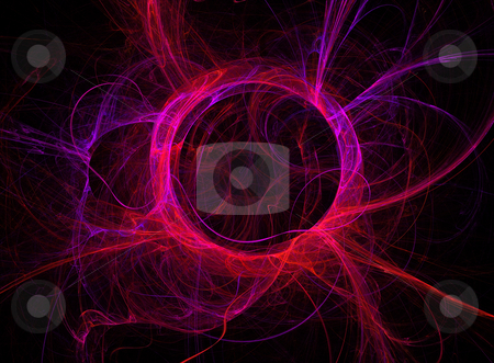 Plasma Like Circle stock photo, Circle of neon bright rays rather like a plasma ball by Helen Shorey