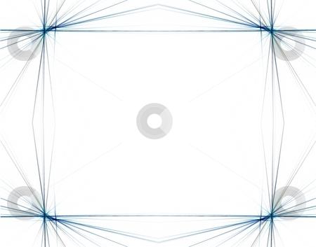 Fractal 46 Blue Frame stock photo, Beautiful flows of different color build this fractal by Henrik Lehnerer