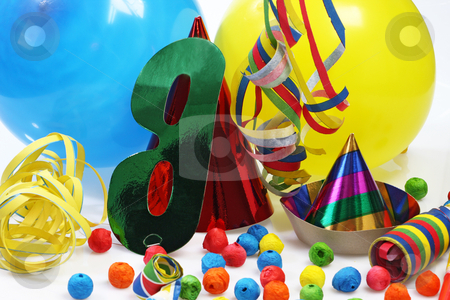 Party stock photo, Party goods on bright background by Birgit Reitz-Hofmann