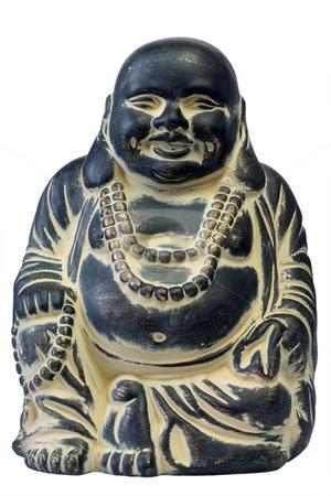 Buddha stock photo, Buddha on a white background, isolated. by Birgit Reitz-Hofmann