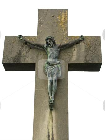 Jesus stock photo, Jesus sculpture isolated on white background by Birgit Reitz-Hofmann