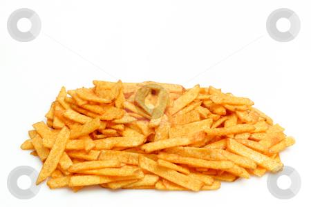 Potatoe chips stock photo, Potatoe chips on bright background. Shot in studio by Birgit Reitz-Hofmann