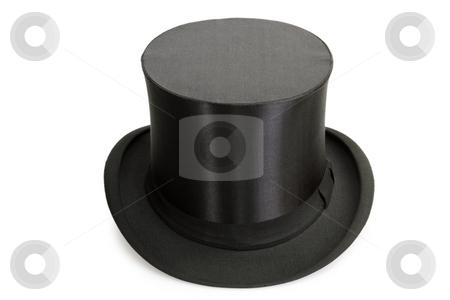 Chapeau Claque stock photo, Black Chapeau claque isolated on white background by Birgit Reitz-Hofmann