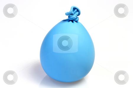 Blue kneating ballon stock photo, Kneating ballon on bright background by Birgit Reitz-Hofmann