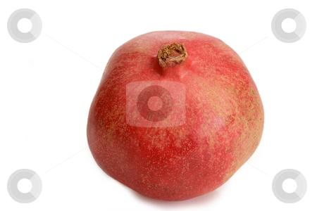 Pomegranate_4 stock photo, Fresh pomegranate on white background by Birgit Reitz-Hofmann