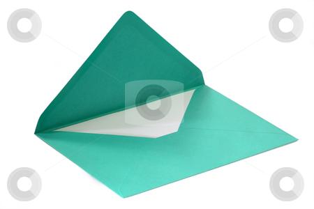 Green envelope stock photo, Green envelope isolated on white background by Birgit Reitz-Hofmann